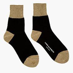 Gold Lurex Socks