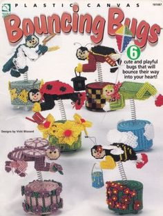 Bouncing-Bugs-Whimsical-Home-Decor-Plastic-Canvas-Pattern-Booklet-HWB-181087