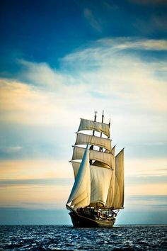 """There is nothing compared to sailing a ship in the early morning with the day spreading gloriously out before you..."""