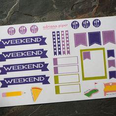 September Sampler Stickers for Erin Condren Life Planner, Plum Paper Planner, Filofax, Kikki K, Calendar or Scrapbook by adrianapiper on Etsy