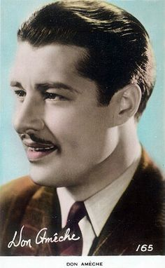 High resolution pictures of the Radio,Stage,Television and Film Star - Don Ameche Golden Age Of Hollywood, Classic Hollywood, Old Hollywood, Don Ameche, Classic Movie Stars, Famous Men, High Resolution Picture, Good Old, Actors & Actresses