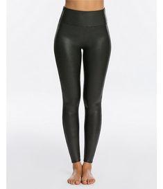 Leith Womens Legging Pants Faux Leather Black Size XS