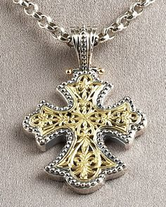 Flared Cross Pendant by Konstantino at Neiman Marcus.