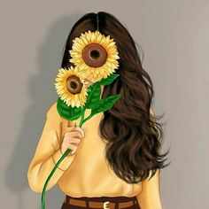 cartoon art Im not perfect, but Im too much for you. Im not perfect, but Im too much for you. Cute Girl Wallpaper, Cute Wallpaper Backgrounds, Color Wallpaper Iphone, News Wallpaper, Sarra Art, Cute Girl Drawing, Beautiful Girl Drawing, Girly Drawings, Sunflower Wallpaper