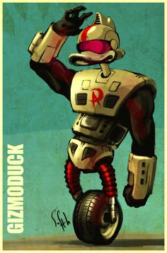 Gizmoduck from DuckTales