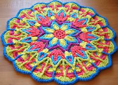 crochet mandala rugs patterns   Overlay Crochet Mandala CAL