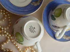 Wedgwood Sarah's Garden Lavender Blue Cup and Saucer set of two Lavender Garden, Lavender Blue, Sarah's Garden, Blue Cups, English Country Gardens, Wedding Breakfast, Great Housewarming Gifts, Cup And Saucer Set, Wedgwood