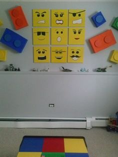 Are your kids fans of Lego? Well, i think not only your kids who love to play Lego but you and other adults may also love to play with it. However, do ever think to use Lego in your home interior d… Lego Bedroom Decor, Bedroom Themes, Kids Bedroom, Bedroom Ideas, Boy Bedrooms, Deco Lego, Lego Bathroom, Lego Hacks, Lego Decorations