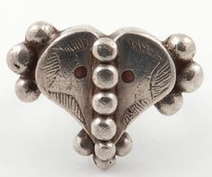 Antique silver Fulani ring.