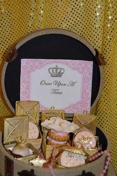 Themed favors at a Princess Party!  See more party ideas at CatchMyParty.com!  #partyideas #princess