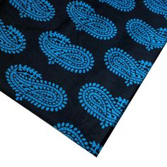 Blue and Black Soft Cotton Fabric DesiCraftShop.com
