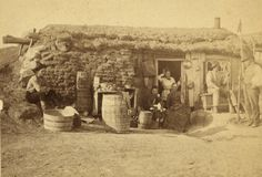 (animated stereo) A 19th Century Sod House in Kansas by Thiophene_Guy, via Flickr