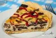 Din bucătăria mea: Tarta cu ciuperci Dessert Drinks, Dessert Recipes, Desserts, Quiche, Food And Drink, Pie, Cooking Recipes, Breakfast, Ethnic Recipes