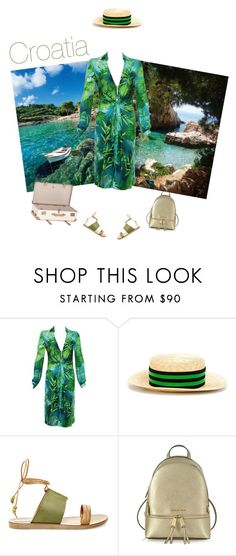 """""""Croatia"""" by andreearaiciu ❤ liked on Polyvore featuring Versace, Lanvin, Steve Madden, Michael Kors and Globe-Trotter"""