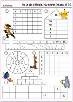 Esta hoja de actividades de cálculo y numeración hasta el 20 nos sirve de tarea de repaso. En ella incluímos las distintas tareas que hemos ido La entrada HOJA DE REPASO. CÁLCULO Y NUMERACIÓN HASTA 20