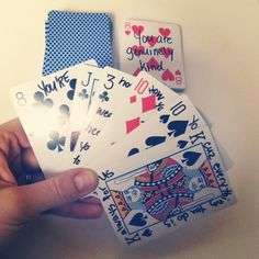 DIY Anniversary Gift: Playing Cards 52 Reasons Why I Love You