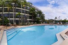 View of Pool and Sun deck at our Clearwater Hotel