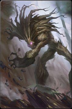 Fantasy Tree Creature - artist unknown