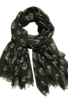Skull Scarf- Black and Gray
