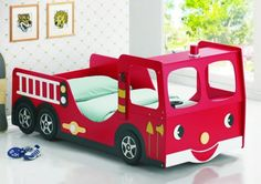 From a Racing Car Bed to a Fire Engine Bed to a Disney Princess Bed. Bedtime It 's so funny now! Futon Bunk Bed, Cool Bunk Beds, Twin Bunk Beds, Kid Beds, Truck Toddler Bed, Play Beds, Toddler Rooms, Kids Rooms, Childrens Beds