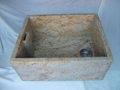 Natural stone granite Belfast sink in Kashmir Gold. Other stone sinks available.