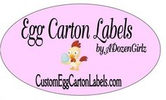 I can't wait to make a personalized egg carton label for my backyard chicken eggs! :)