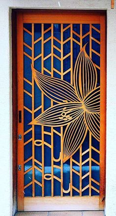 Lotus flower door in Kyoto, Japan.