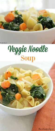 Veggie Noodle Soup is a comforting meal perfect for soothing winter colds. ComfortCareDiapers AD