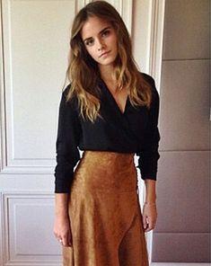 Emma Watson has been sporting much longer locks lately [Instagram]