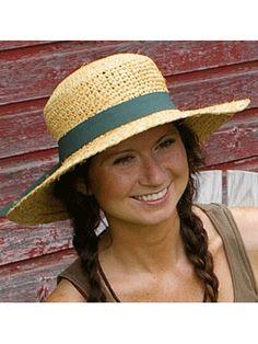 Raffia Hat with Ribbon UPF 35 - - Womens Gardening Hats - Best Sun Protection Hats