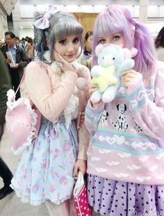 "pastelbat: "" At the design festa I got to meet cutie Lila eep ; Harajuku Girls, Harajuku Fashion, Kawaii Fashion, Lolita Fashion, Pastel Fashion, Quirky Fashion, Cute Fashion, Asian Fashion, Tokyo Street Fashion"