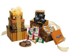 Ghirardelli Tower of Squares, Chocolate, 51 Count by Ghirardelli