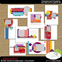 Collab: Thankful Card Templates The LilyPad List, Card Templates, Digital Scrapbooking, Thankful, Sketches, Lily Pad, Kids Rugs, Diy Crafts, Crafty