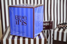 Henri Bendel Signature Blue Iris Candle #stripes-I may have to cheat and get this one this year in addition to persian lime.  I was really torn between the two in the store.