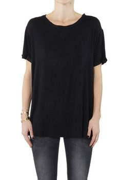 T-Shirt with Raw Hems Annie Bing