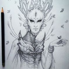 A pencil sketch of an alien-like plant spirit creature :D I love doing these!! 👍✌🏻️PS: You can get 20% off on any prints by me in my shop by using the discount code SPRING when placing an order. ONLY A FEW MORE DAYS! Link is in my bio! ❤️ #art #arte #pencil #sketch #sketchbook #drawing #alien #creature #artoftheday #art_spotlight #artcollective #artofdrawingg #artspix #arts_help #artsanity #arts_gallery #art_help #art_boost #art_empire #art_motive #art_gallery #sketch_daily…