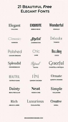 Graphic Design Fonts, Graphic Design Inspiration, Typography Design, Font Logo Design, Fashion Typography, Typography Poster, Elegant Logo Design, Elegant Designs, Typography Wallpaper