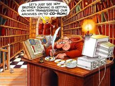 Foto Frate che trasferisce i dati sul cd-rom Funny Cartoon Photos, Funny Picture Jokes, Funny Pictures, Catsu The Cat, Librarian Humor, Brother Humor, Kliban Cat, Ipad, Christian Memes