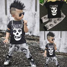 $5.31 (Buy here: https://alitems.com/g/1e8d114494ebda23ff8b16525dc3e8/?i=5&ulp=https%3A%2F%2Fwww.aliexpress.com%2Fitem%2FSummer-Baby-Boy-Toddler-Kids-Skull-Casaul-Tops-Long-Pants-2pcs-Outfits-Set%2F32727865069.html ) Summer Baby Boy Toddler Kids Skull Casaul Tops+Long Pants 2pcs Outfits Set for just $5.31