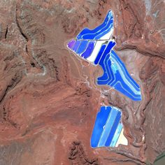 Texas Gulf Potash Pond in Monticello, Utah.  Lauren Manning's Earth Patterns: Photo Book, of GOOGLE EARTH