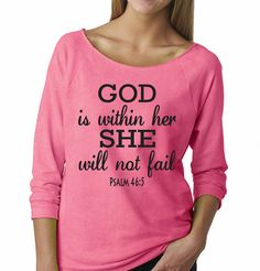 God Is Within Her Sweater. Christian Sweatshirt. by WorkItWear