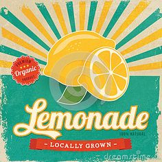 Colorful Vintage Lemonade Label - Download From Over 33 Million High Quality Stock Photos, Images, Vectors. Sign up for FREE today. Image: 39698606