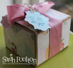 Stampin' Sarah! - Stampin' Up! Tea for Two DSP & Kraft Box Hostess Thank You Gift