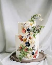 prrssed flower cake - Google Search