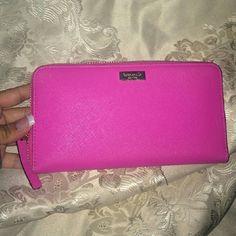 Kate spade Wallet Pink Kate Spake Wallet. 16 Card Slots and Beautiful Interior. No Damage or Stains. kate spade Bags Wallets