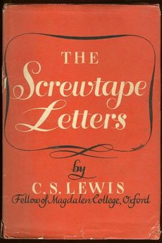 The Screwtape Letters C.S. Lewis. Lewis is so good. I love his humor throughout right along with some hard truths. Thought provoking.