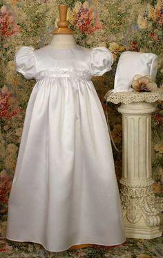 Satin Baptism Dresses for Babies