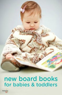 Encourage your little ones to spend time developing their imaginations and verbal skills with these fantastic new board books for babies and toddlers. This list of children's books would also make a fantastic baby shower or first birthday gift idea!