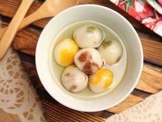 Tri-Color Sweet Rice Dumplings