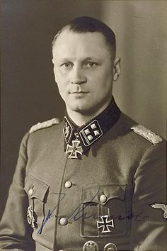 "SS Brigadeführer and Generalmajor of the Waffen-SS Joachim Rumohr (16 August 1910 – 11 February 1945) seriously wounded during the attempt to break out from Budapest, and committed suicide. Knight's Cross on 16 January 1944 as SS-Obersturmbannführer and commander of SS-Artillerie-Regiment 8 ""Florian Geyer""; 721st Oak Leaves on 1 February 1945 as SS-Brigadeführer and Generalmajor of the Waffen-SS and commander of 8. SS-Kavillerie-Division ""Florian Geyer"""